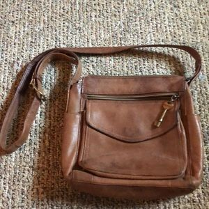 Leather fossil purse